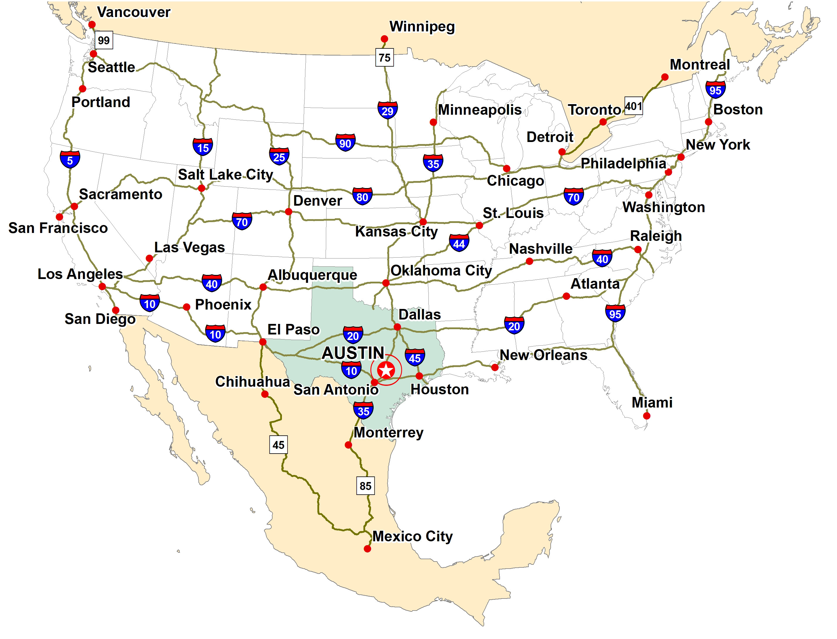 Interstate system near Austin | Austin Chamber of Commerce